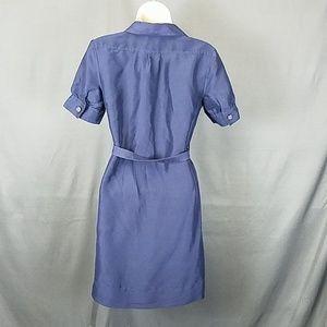 Banana Republic Dresses - 3 for $10- navy belted silk dress